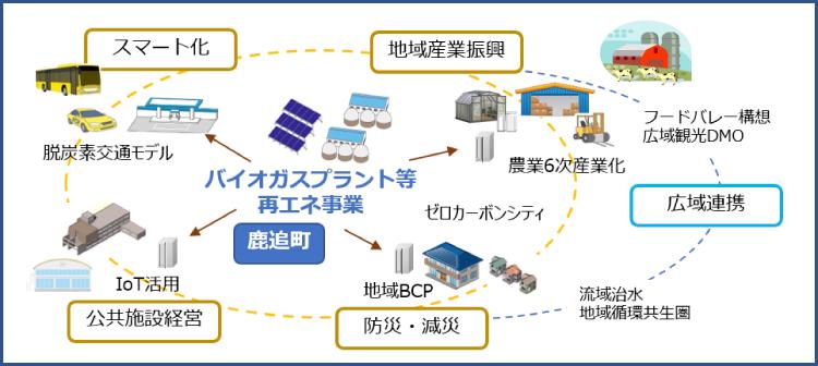 地域スマートソサエティ構想/官民連携モデルのイメージ