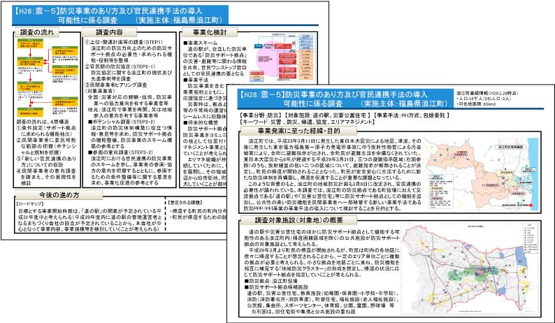浪江町における防災事業のあり方等調査業務