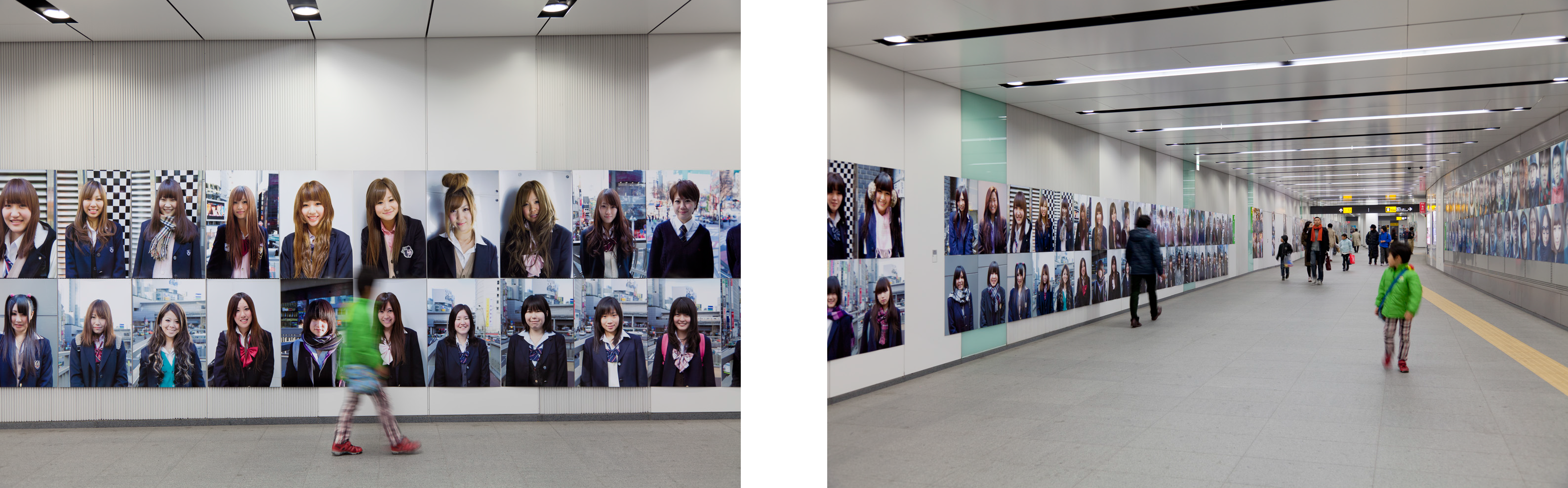 渋谷を象徴するプラットフォーム形成